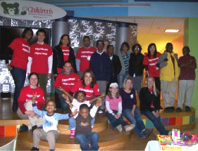 ExxonMobile employees host a play day with patients