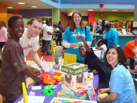 Marriott employees bring smiles to the patients at Children's