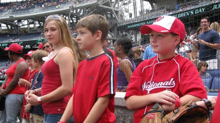 Children's National patients celebrate at Nationals Park