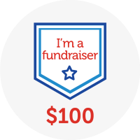 I'm a fundraiser - Raised $100