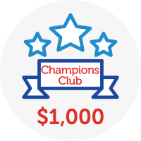 Champions Club - Raised $1,000