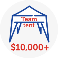 Team tent - Raised $10,000+