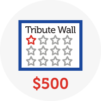 Tribute Wall - Raised $500